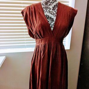 Wilfred wrinkle effect dress with wrap tie sz: S